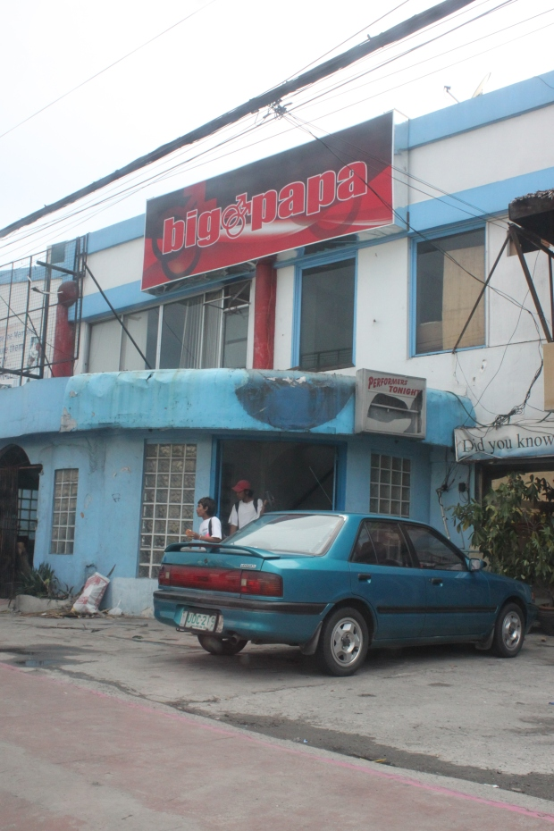 The famous Big Papa macho dancer bar on Aurora Boulevard, Pasay City.