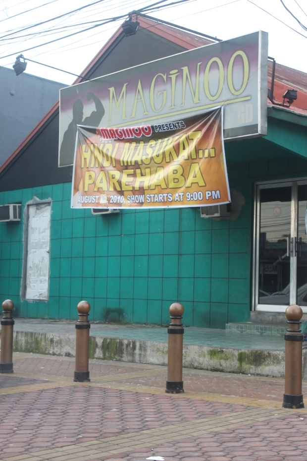 "Club Maginoo on Timog Avenue in Quezon City, where not all macho dancers are ""maginoo"" (gentlemanly)."