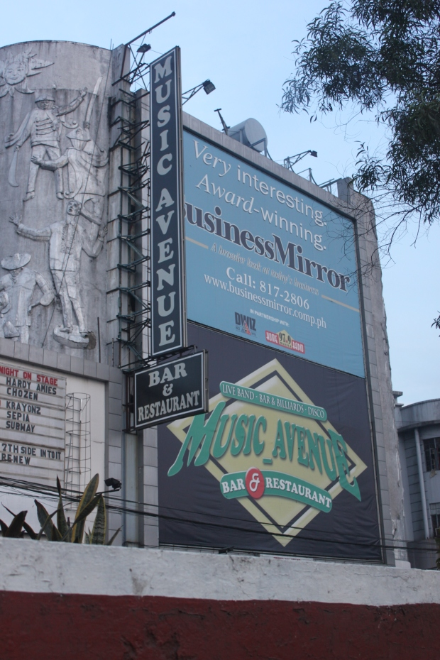 As soon as you exit the tunnel on Quezon Boulevard, you will notice this conspicuous signage of Music Avenue, a comedy bar housed in an old building just meters away from Vincent Paradise