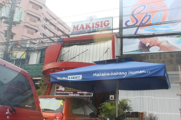 The famous Makisig Entertainment Bar and Restaurant on Timog Avenue in Quezon City.